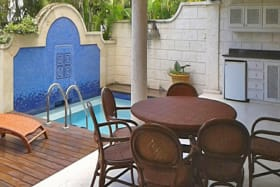 Outdoor seating with plunge pool