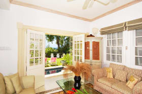 Sitting room opens to plunge pool terrace