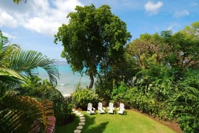 View of garden and beach access from Fathoms End