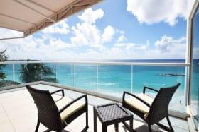 Outdoor patio facing the Caribbean Sea