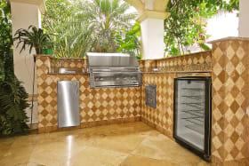 Built in Bar B Q  kitchen on terrace