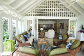 View from veranda to great room