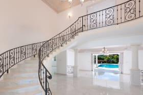 Impressive stairway to first floor