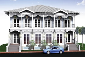 Planning for two townhouses