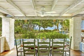Dining veranda with great sea views