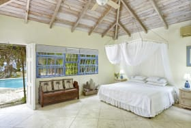 Master bedroom opens to pool terrace