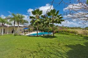 Garden and villa exterior