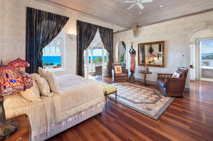 Master suite with view of the ocean