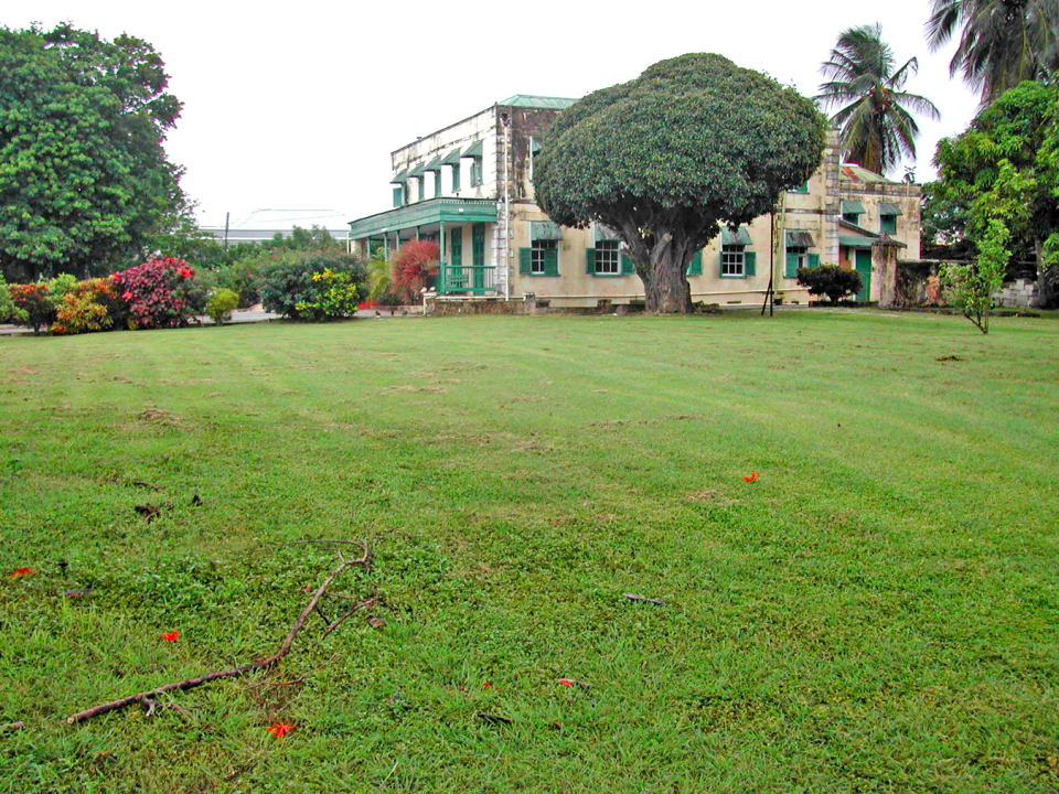 Large level lawn to east of main building