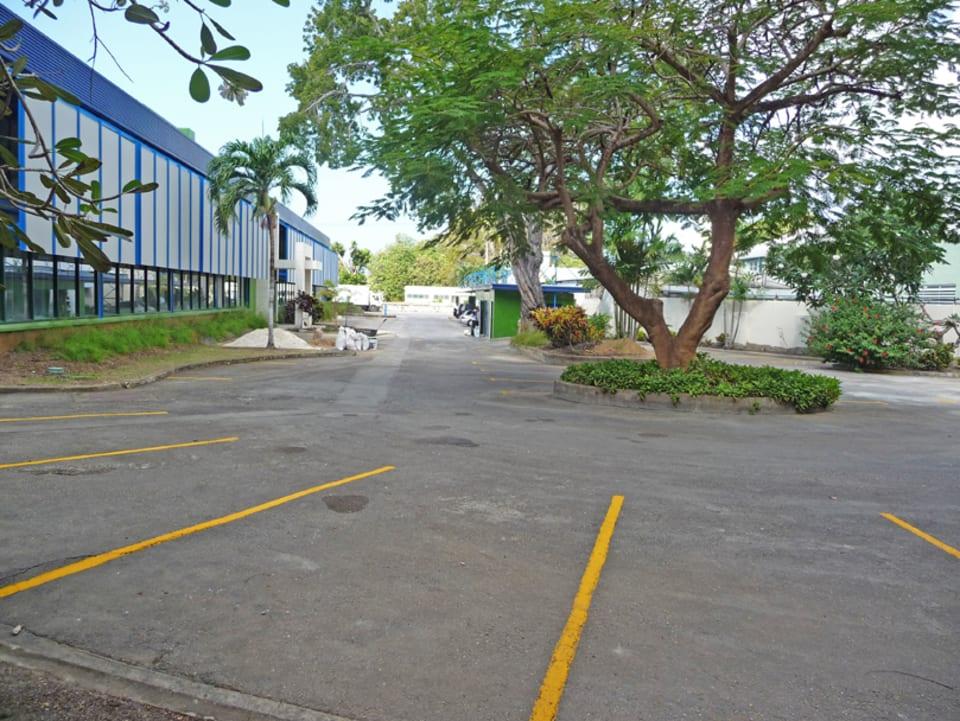 Car park looking towards highway 7