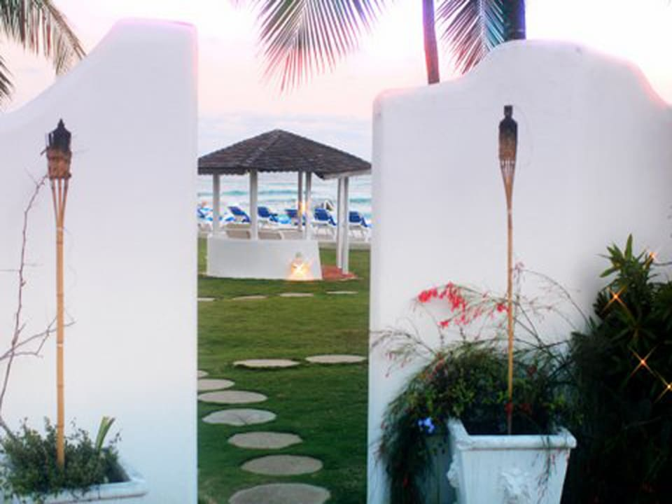 Looking out to the gazebo - the perfect spot to get married