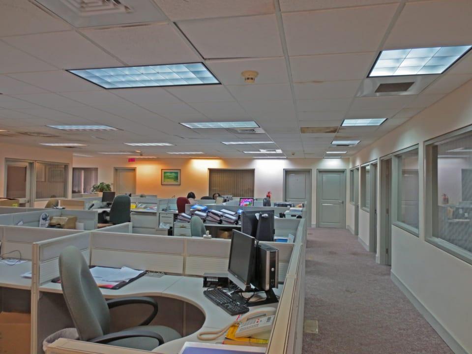 Upstairs open office area