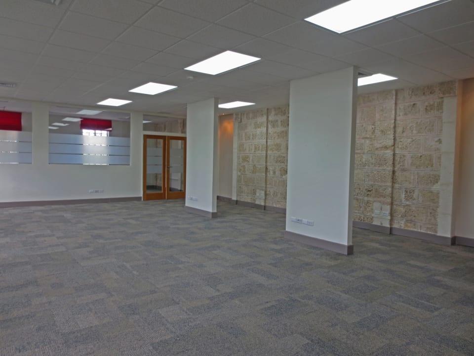 Open plan office area