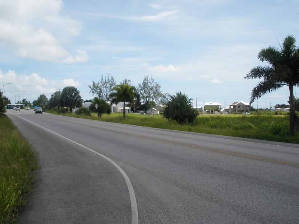 Photo taken from main entrance to lots looking towards the Airport