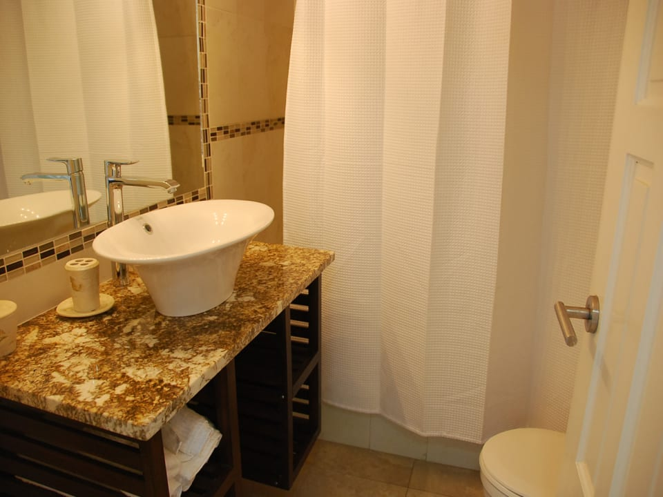 Upgraded bathroom with shower