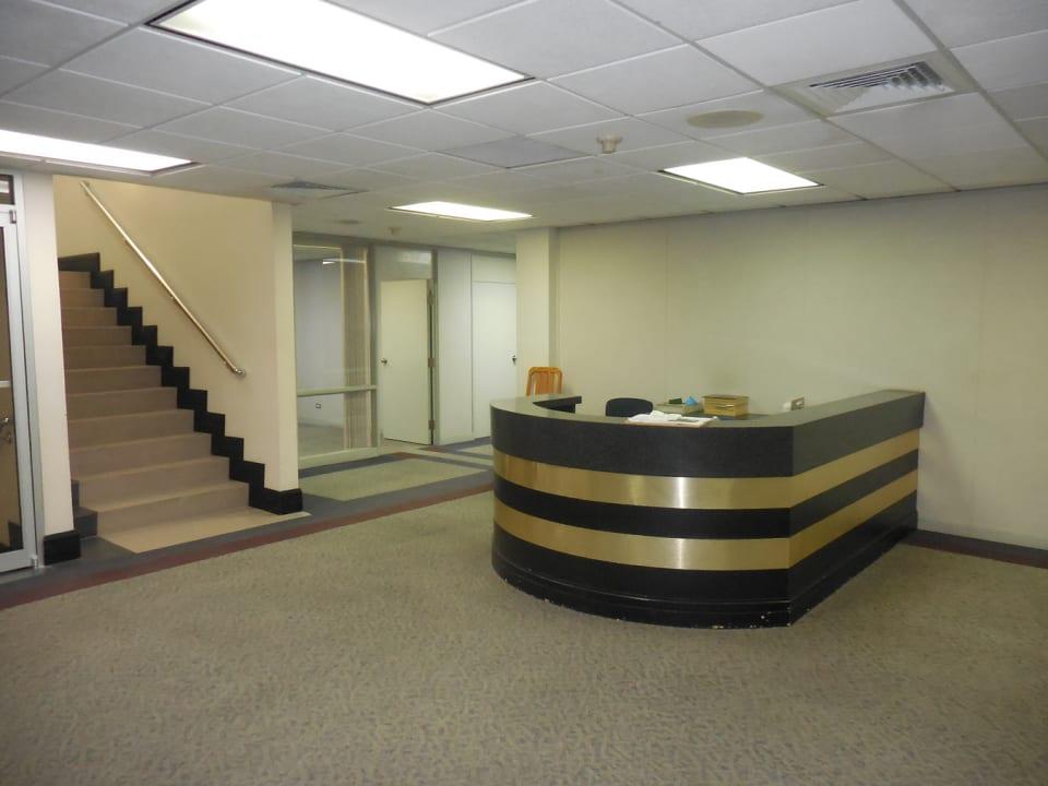 Reception on first floor