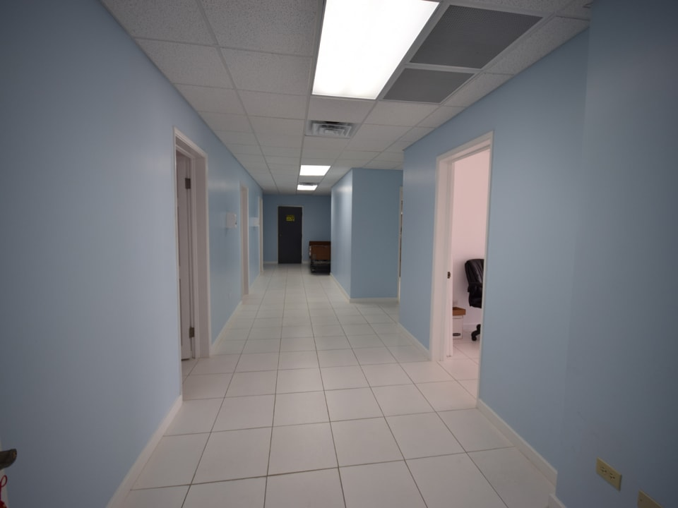 Hallway with offices