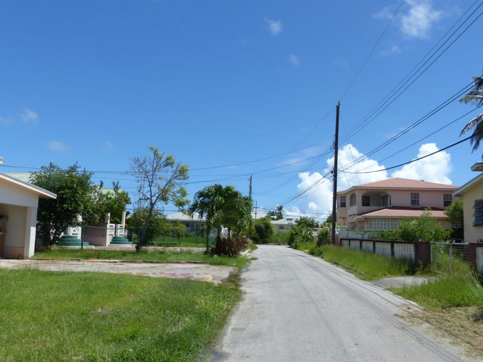 Road View facing east