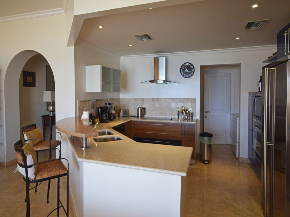 Fully fitted kitchen with utility area