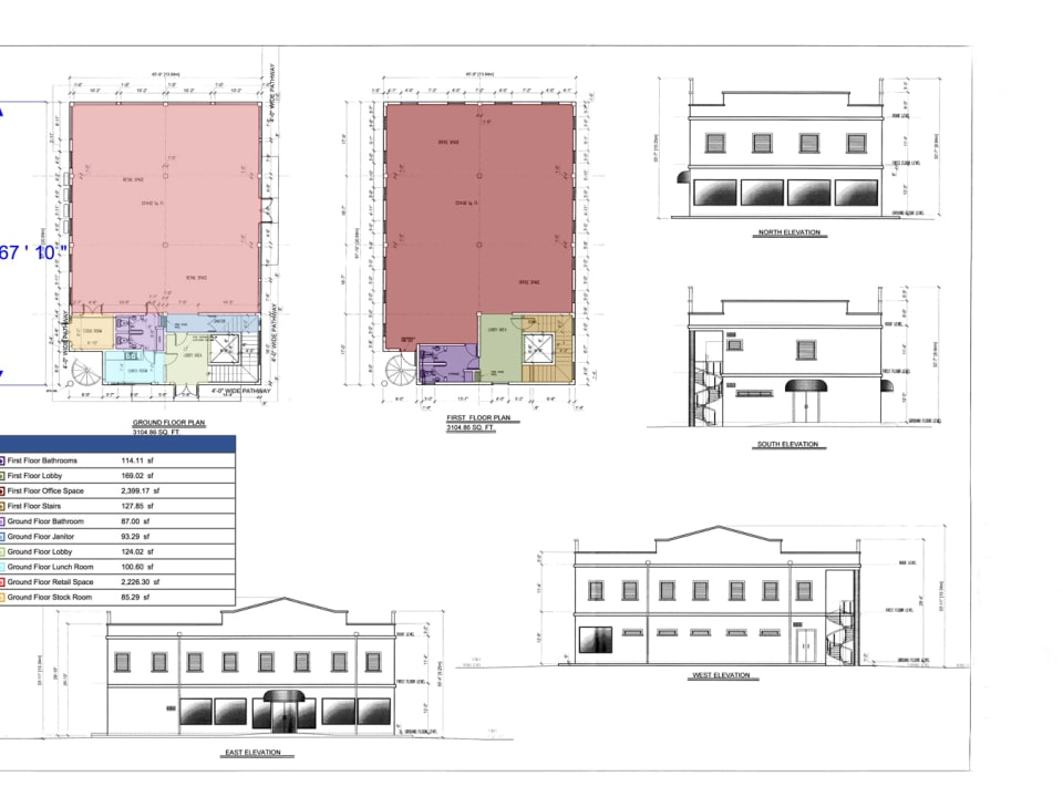 Floor Plans and Building Elevations
