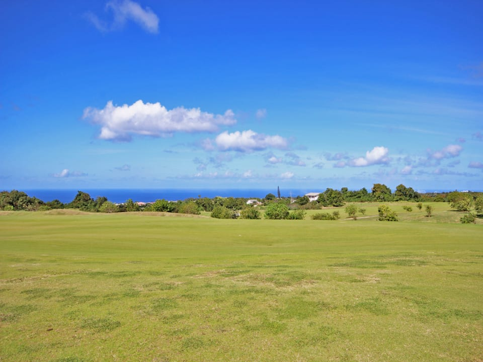 View over the golf course to the west coast