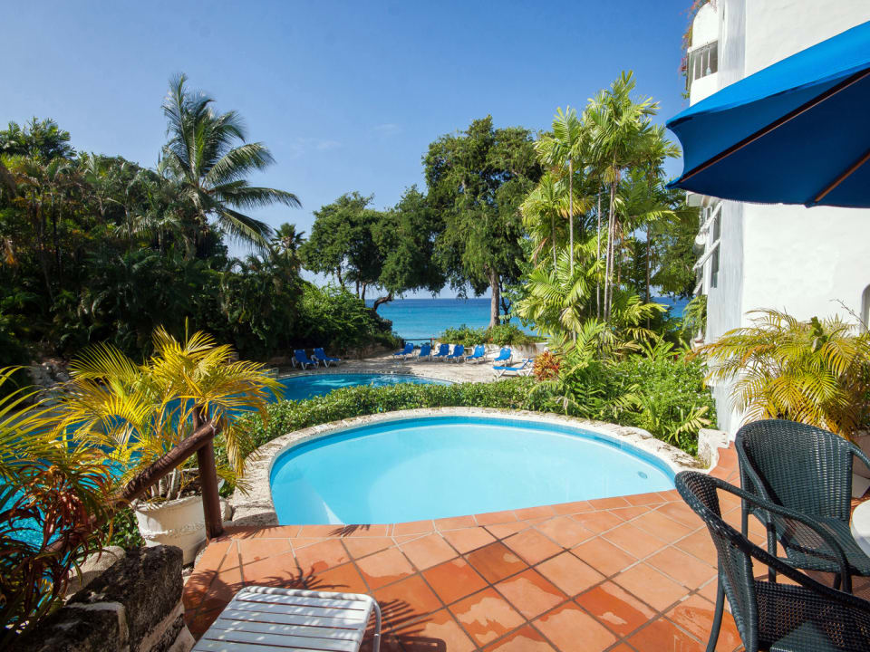 Stunning pool and sea views from your private terrace