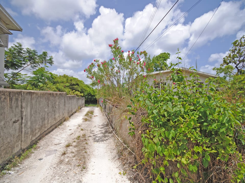 Access road to Lot 4A