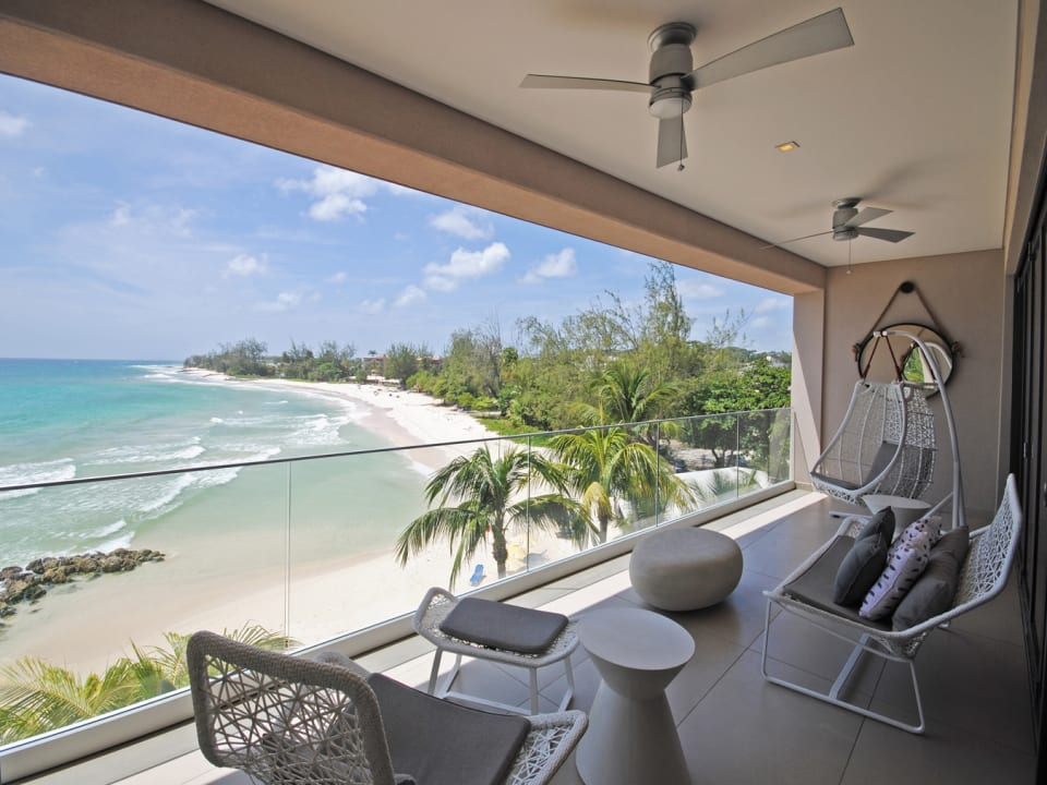 View of Accra Beach from veranda of Penthouse 5