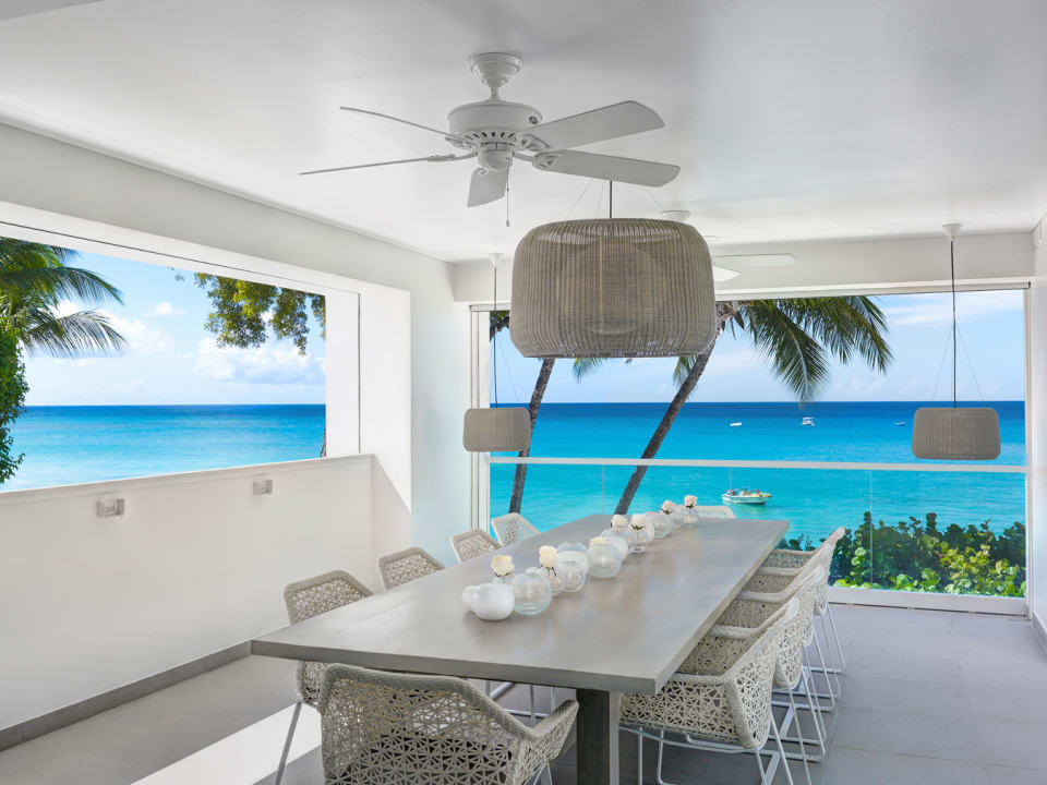 Dining terrace with stunning views