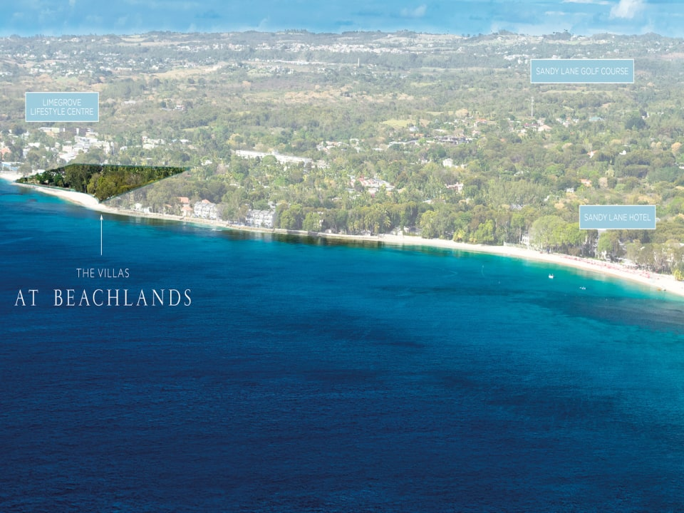 Aerial View of the location of The Villas at Beachlands