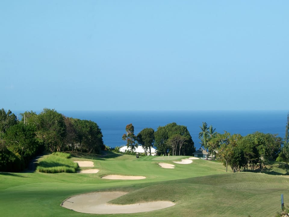Golf Course with Ocean View Beyond