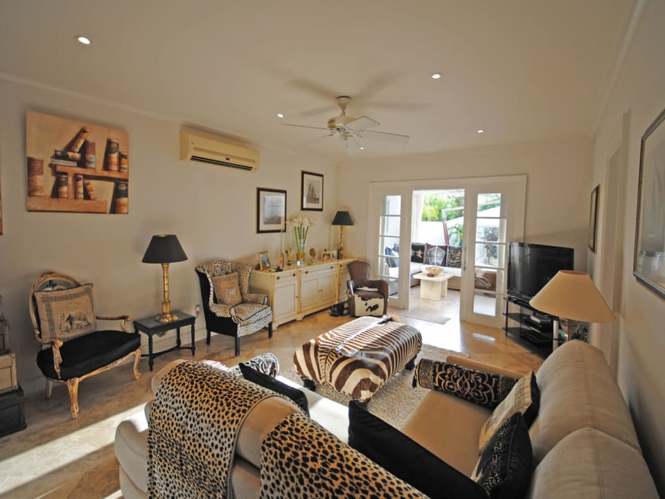 Elegant living room is air-conditioned