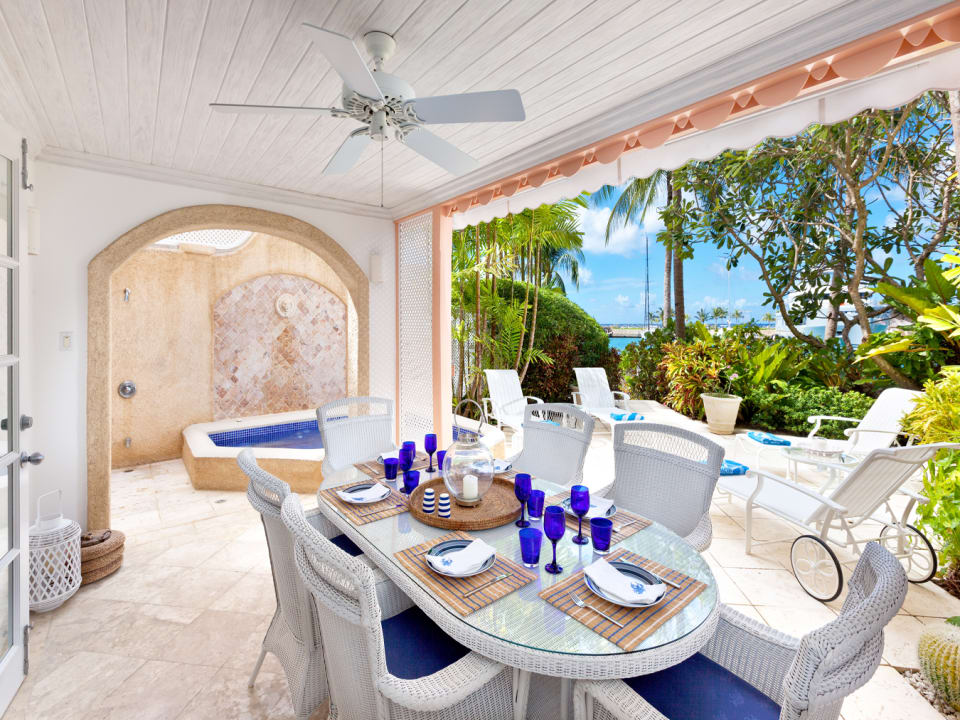 Dining terrace plunge pool and spacious ground floor terrace