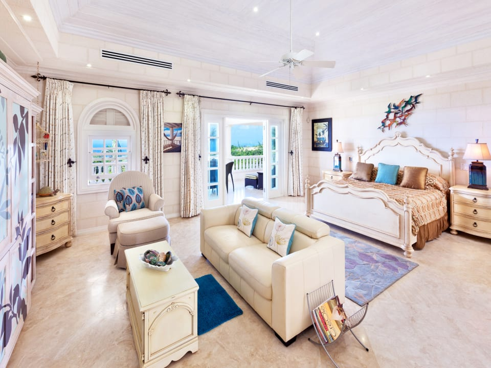 Elegantly furnished master bedroom