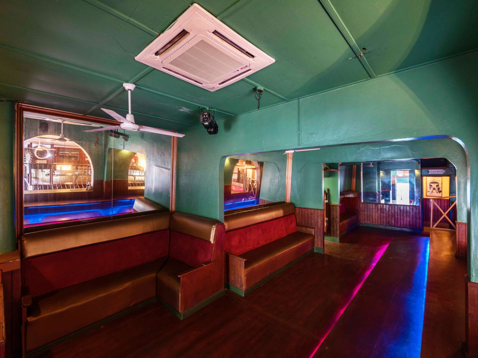 Dance floor and additional seating