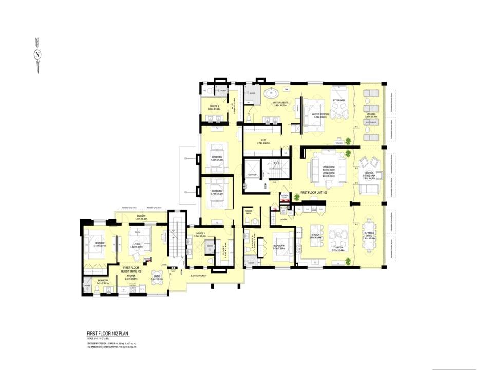 Unit 102 Floor plans
