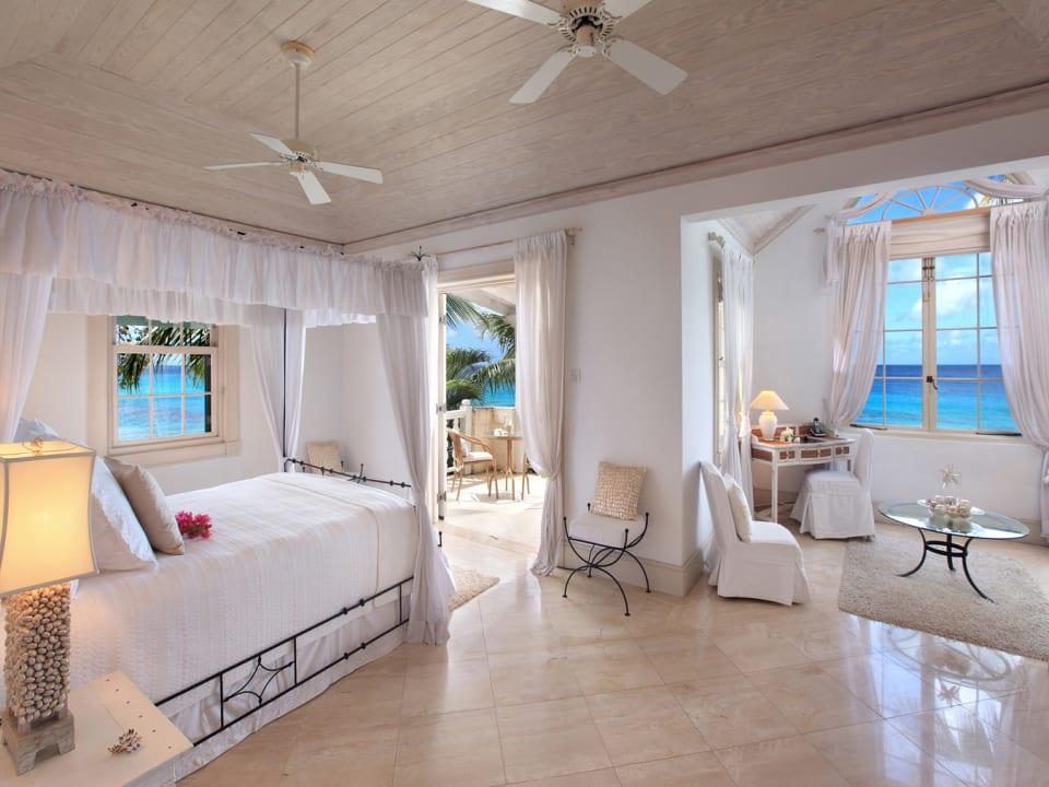 Master bedroom with ocean view