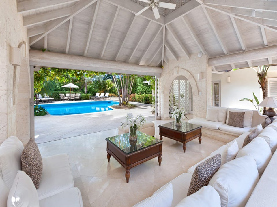 Poolside sitting room