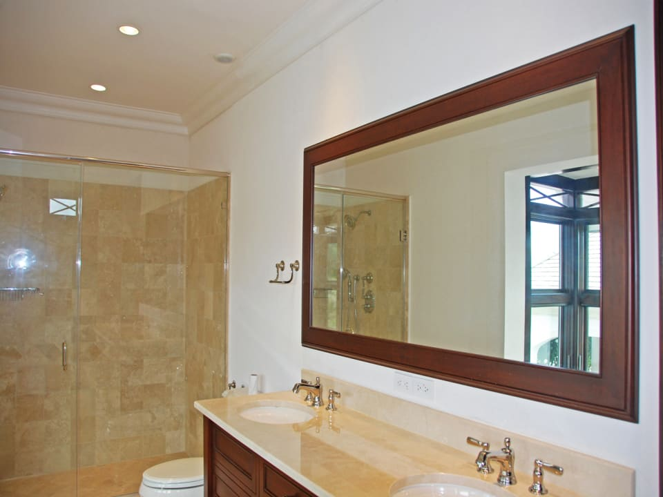 Bathroom with double vanity