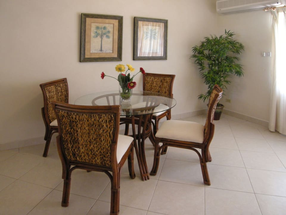 Air conditioned open plan living and dining room