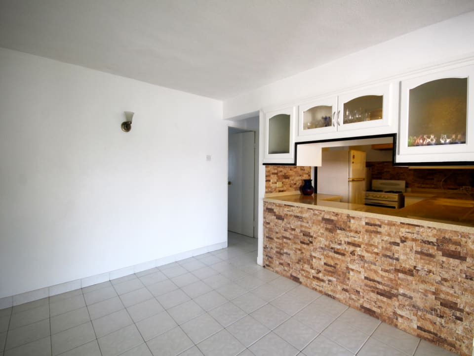 Living and Kitchen in the 2 Bed Ground Floor Apt