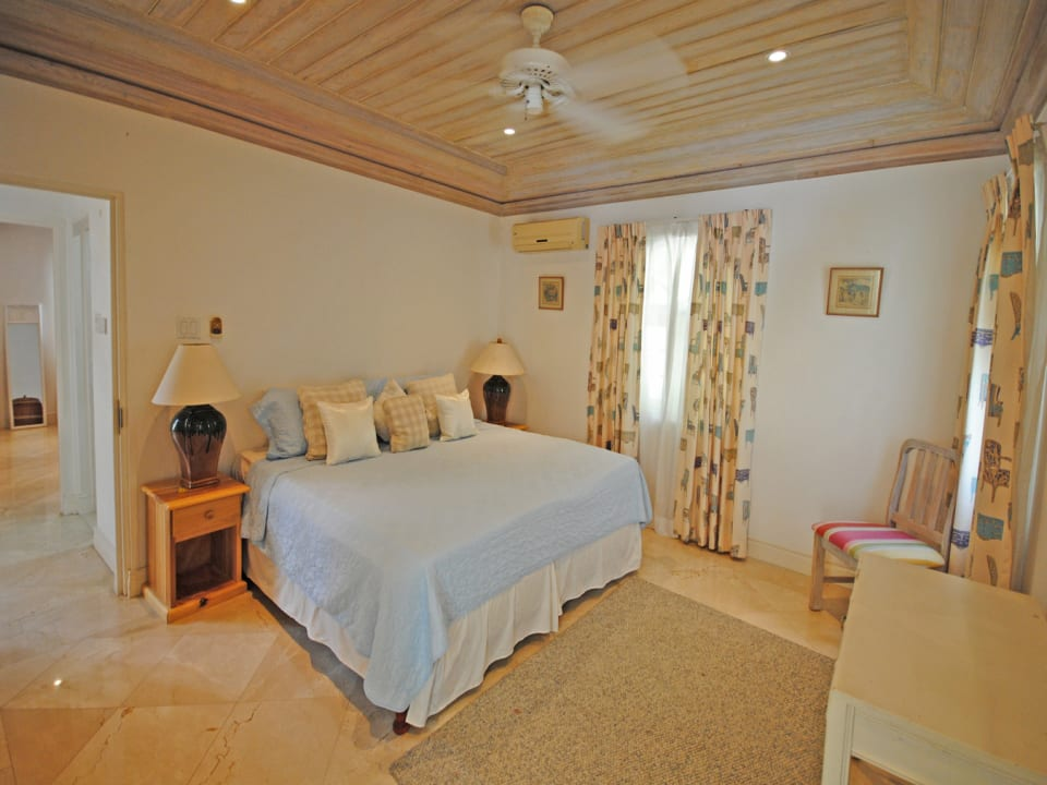 One of the two bedrooms that open to pool terrace