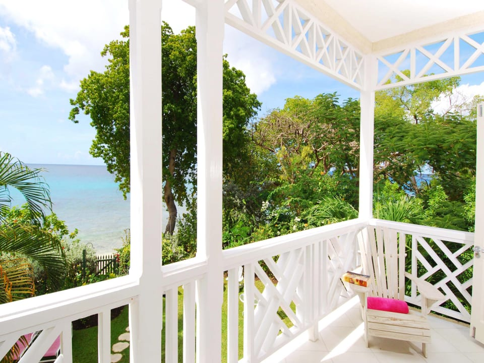 View of sea and garden from master balcony