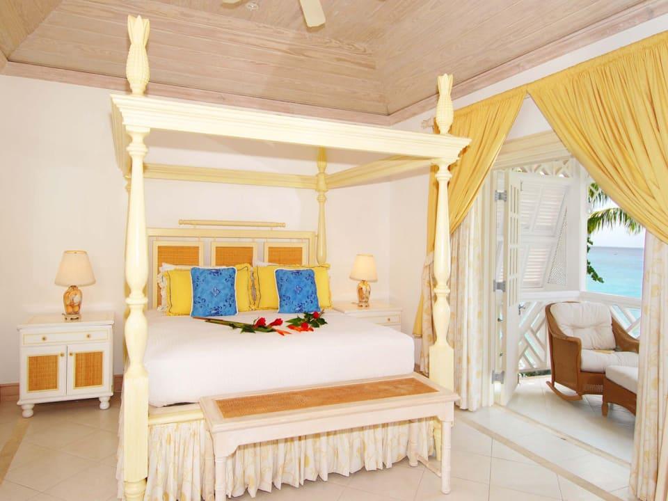 Spacious master bedroom occupies the entire top floor