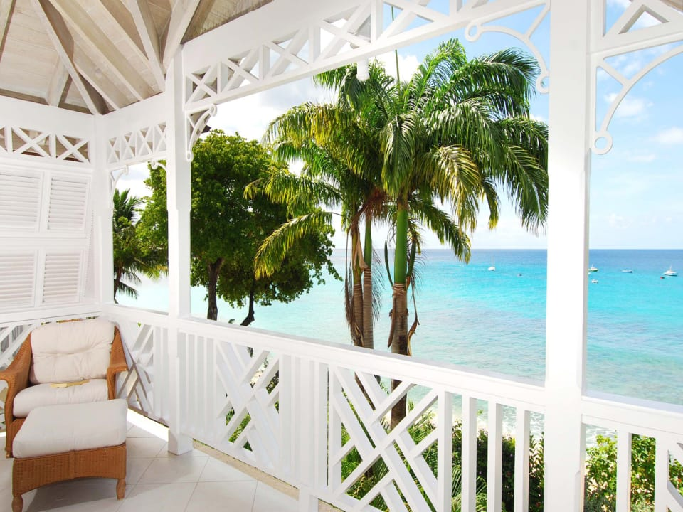 Sea views from first floor balcony