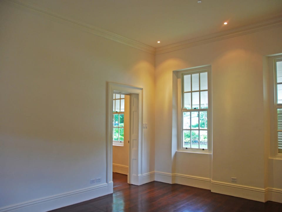Modern touches like recessed lighting