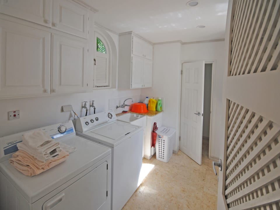 Full size laundry room and storage