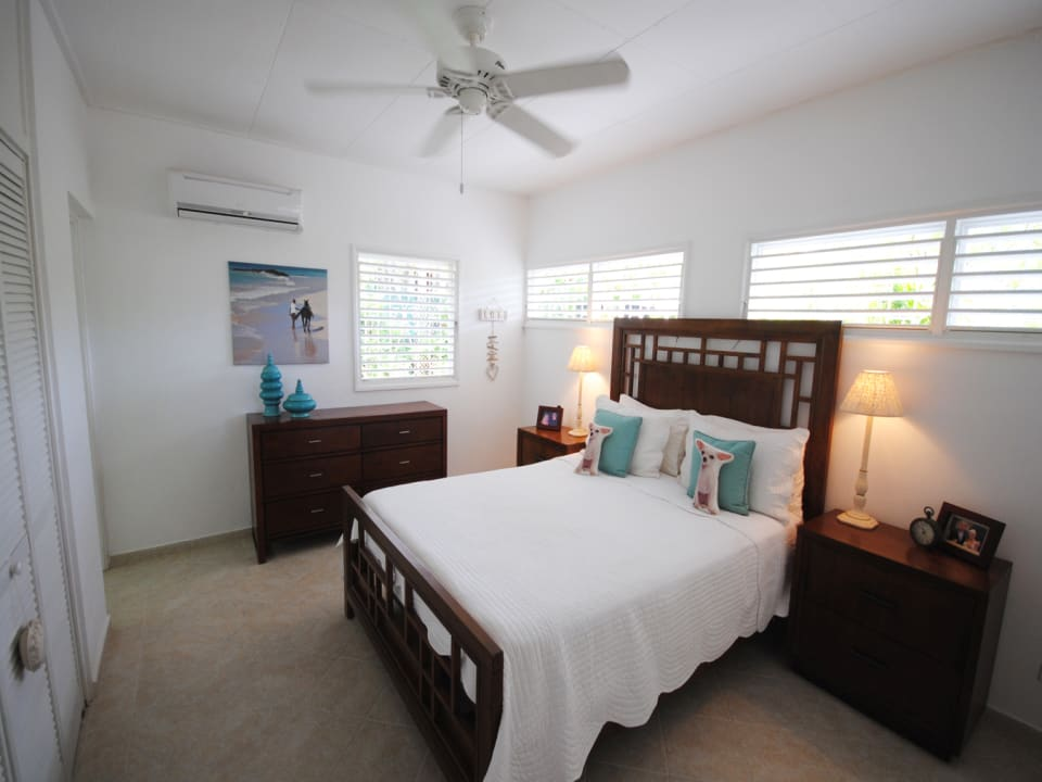 Master bedroom suite has a/c and built in closets