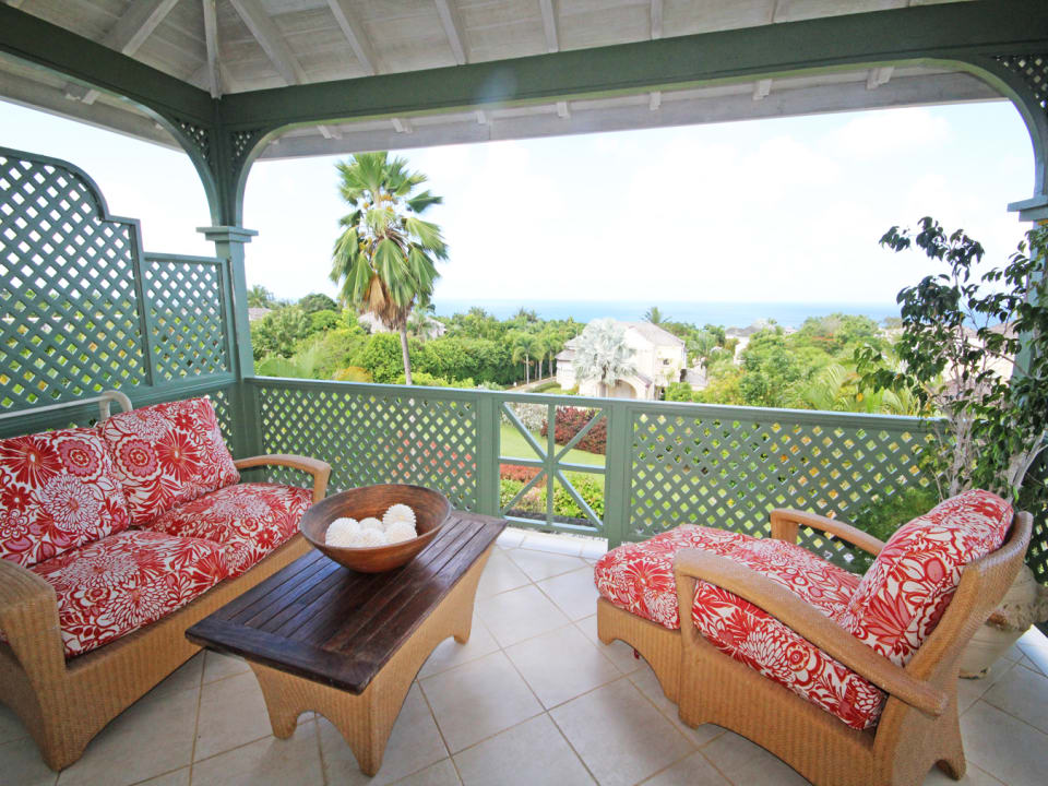 Master bedroom balcony seating