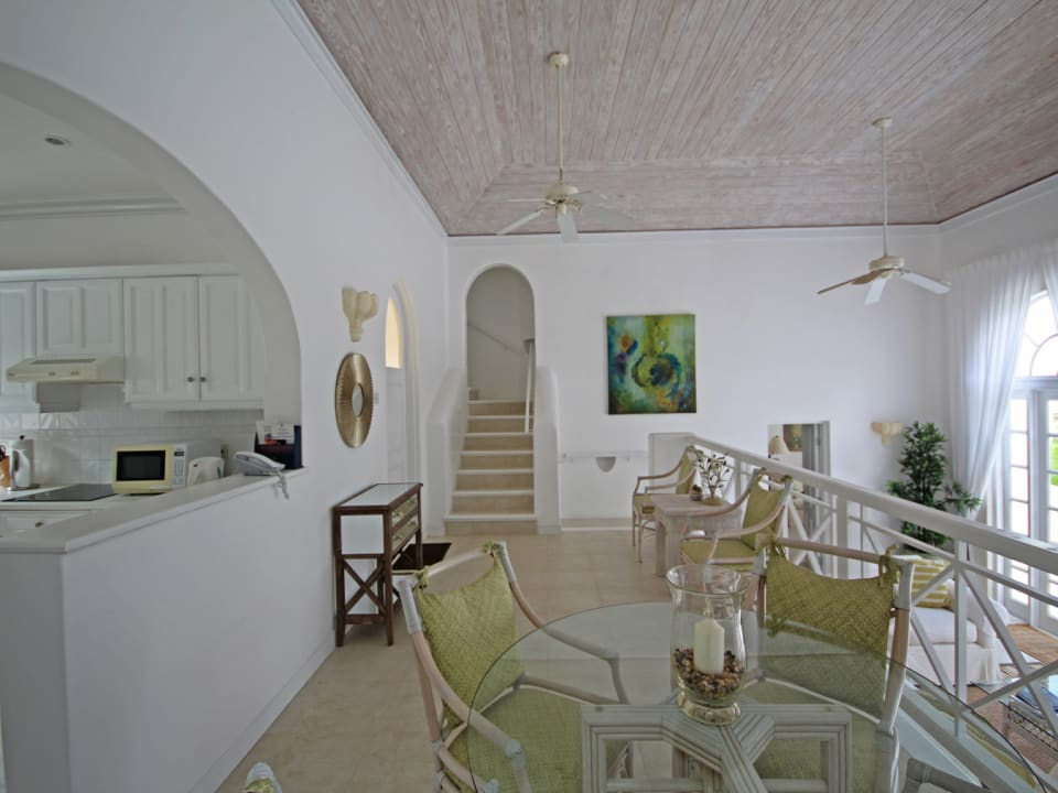 Dining area overlooking the living space